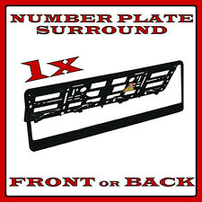 1x Number Plate Surround Holder Black for Mercedes-Benz C-Class