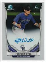 2014 Bowman Chrome Draft Forrest Wall On-Card Auto Rockies First Year Rookie RC