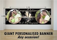 Personalised GIANT Large Congratulations Wedding Engagement Mr & Mrs Banner N12