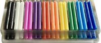 Taper Spell Candles 40 Pcs, Assorted Colors, Use for Casting Chimes, Spells,