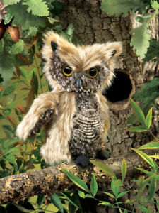 NEW PLUSH SOFT TOY Folkmanis 2961 Screech Owl Full Body Hand Puppet