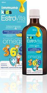 EstroVita Immuno Kids, Omega 3,6,9, Vitamin A, Vitamin D For Kids, FREE P&P