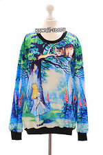 TY-Y168 Alice in Wunderland Vintage Sweatshirt Pullover Japan Harajuku Trend