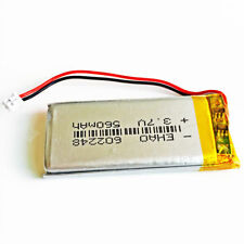 3.7V 560mAh Lipo Rechargeable Battery Cells For Mp3 GPS MP4 PSP 602248 JST1.25mm