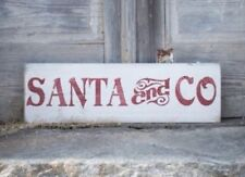 Santa And Co, Santa Sign, Kids Christmas Sign, Christmas Holiday Decor, Gift
