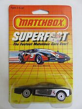 Vintage Matchbox 1985 FERRARI Testarossa Superfast 1/64 Scale Die-Cast SF24 New