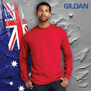 Gildan® 2400 Ultra Cotton™ Adult Long Sleeve T-Shirt 203GSM / 193GSM(White)