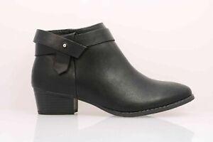 Women's LC Lauren Conrad Succulent Black Vegan Leather Ankle Boots Sz 6.5W