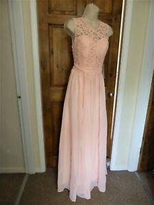 Pretty pink chiffon lace detail evening dress from Babyonline size 10
