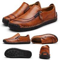 Décontracté Chaussures Mode Homme Cuir Éclair Respirant Antidérapant Mocassins