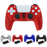 For Playstation5 PS5 Controller Silicone Case Protective Cover + Thumb Grips Kit
