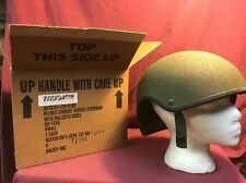 DH-132A SMALL BALLISTIC 1400fps KEVLAR CVC COMBAT HELMET SHELL Unissued With Box
