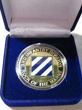 """US ARMY 3rd INFANTRY DIV """"Rock Of The Marne"""" Challenge Coin w/ Presentation Box"""