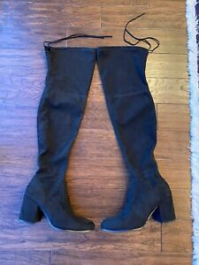 Steve Madden black suede over the knee boots