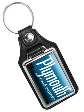 1968 Plymouth Road Runner Emblem Faux Leather Key Ring