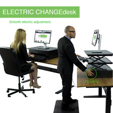 Electric Height Adjustable Standing Desk Converter tall stand up desk riser
