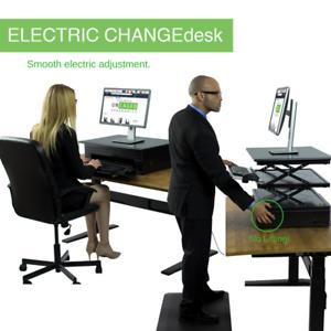 Electric Standing Desk Converter adjustable ergonomic motorized desktop riser