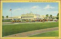 Washington, DC 1940s Aviation Linen Postcard: National Airport - DOC