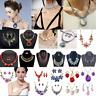 Fashion Jewelry Alloy Choker Chunky Statement Bib Pendant Women Necklace Chain