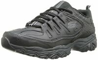 Skechers Mens Fit Reprint Leather Low Top Lace Up Running, Black, Size 9.5 WGdS