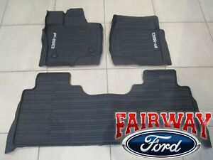 2021 F-150 OEM Ford Molded Floor Mat Set 3-pc CREW CAB w Under Seat Stow Lux Box