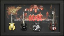 RGM9000 Angus Young ACDC Miniature Guitars in Shadowbox Frame