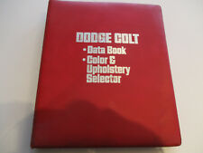 1977 Dodge Colt Data Book & Color & Trim Selector