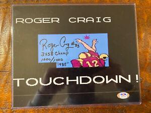 Roger Craig Signed 8x10 Tecmo Super Bowl Photo Psa Dna Coa 49ers Football