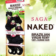 NATURAL BODY WAVE 7PCS - SAGA NAKED BRAZILIAN VIRGIN REMY 100% HUMAN HAIR BUNDLE