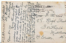 Genealogy Postcard - Ancestor History - Wells - Southall - Middlesex   U2871
