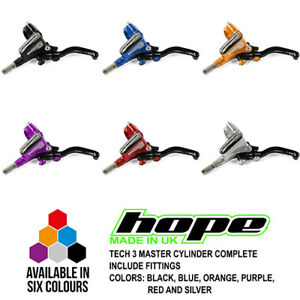 Hope Tech 3 Master Cylinder Lever Complete - All Options - Brand New