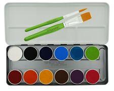 12 Farben Schminkpalette Face & Body Senjo Color Facepainting mit Pinsel