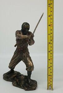 Large Veronese Bronze Cast Effect Samurai Warrior Ninja Shinobi Statue Figurine
