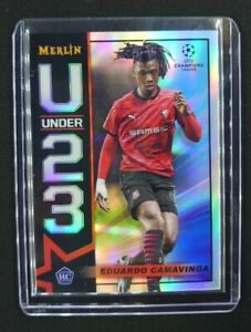 EDUARDO CAMAVINGA 2020-21 Topps Chrome Merlin UEFA U Under 23 REF Rookie Card
