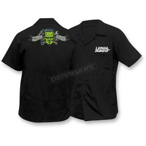 Lethal Threat Spare Parts Embroidered Work Shirt - FE50149M MEDIUM