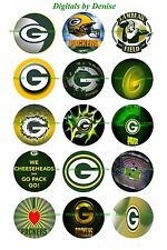 """GREEN BAY PACKERS BOTTLE CAP IMAGES 50 1"""" CIRCLES *****FREE SHIPPING*****"""