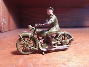 Vintage Britains Motorcycle Dispatch Rider Very Nice