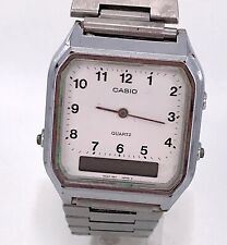 Casio AQ-222 Cal. 308 Vintage Digiana Watch White 32 mm Non Working 3WC