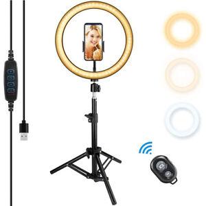 "10""  LED Ring Light with stand Tripod Selfie Studio Photo Video Tik Tok"