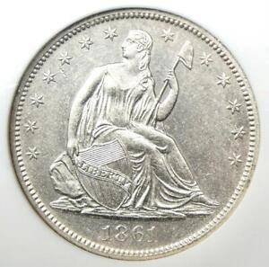 1861-O Seated Liberty Half Dollar 50C. NGC SS Shipwreck - AU / UNC Detail