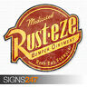 RUSTEZE STICKER Distressed Vinyl Car Sticker JDM Bomb Decal Wall Art