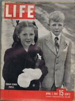 ORIGINAL Vintage Life Magazine April 7 1947 Sunday School Students