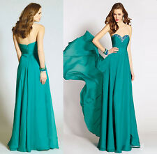 NEW  Chiffon Wedding Formal Evening Party Bridesmaid Ball Gown Dress Size 6-16
