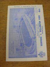 28/01/1967 Romford v Wellington Town  (Writing On Cover, Tiny Marks & Score Note