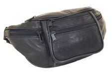 "Leather Fanny Pack Waist Bag Adjustable 6 Pockets Adjustable strap up to 50"" NEW"
