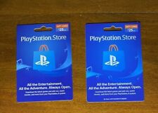 Gift Card $50 total PlayStation Store network 2 x $25.00 physical cards