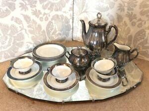 Beautiful Vintage China Coffee / Chocolate Set