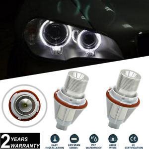 2x 7W Cree LED Angel Eyes BMW Halo Rings Bulbs For E39 E60 E63 E64 E53 X5 White