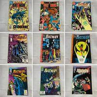 (Lot Of 9) Batman 364, 365, 438, 440, 441, 442, 494, 496, 499 DC Comics 1983
