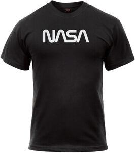 Black Authentic Retro NASA Worm Logo T-Shirt Official Space Logo Tee
